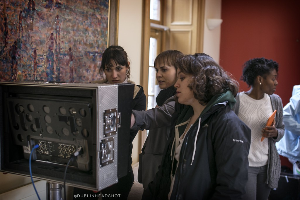 Directors Natasha Waugh & Kamila Dydyna with Maud Ribbens (Script Supervisor)